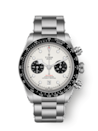 """<p>tudorwatch.com</p><p><strong>$5225.00</strong></p><p><a href=""""https://www.tudorwatch.com/en/watches/black-bay-chrono/m79360n-0002"""" rel=""""nofollow noopener"""" target=""""_blank"""" data-ylk=""""slk:Shop Now"""" class=""""link rapid-noclick-resp"""">Shop Now</a></p><p>Never underestimate the power of black and white when it comes to an accessory and this dive watch is versatile enough to go anywhere.</p><p>Case size: 41mm</p>"""