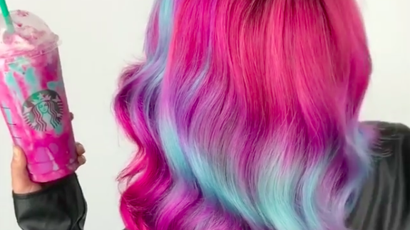 Immortalize The Unicorn Frappuccino Forever In Your Hair