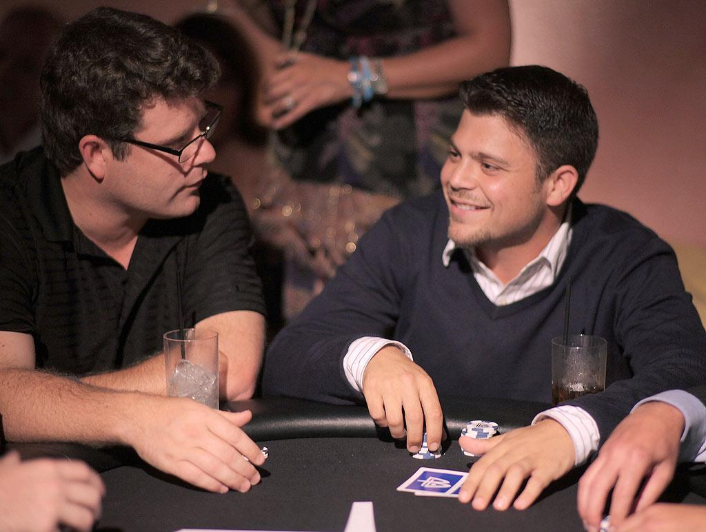 """The Lord of the Rings"" actor Sean Astin and ""Entourage's"" Jerry Ferrara anted up at the poker tables, which raised money for the Ovarian Cancer Research Fund. Chris Weeks/<a href=""http://www.wireimage.com"" target=""new"">WireImage.com</a> - August 3, 2010"
