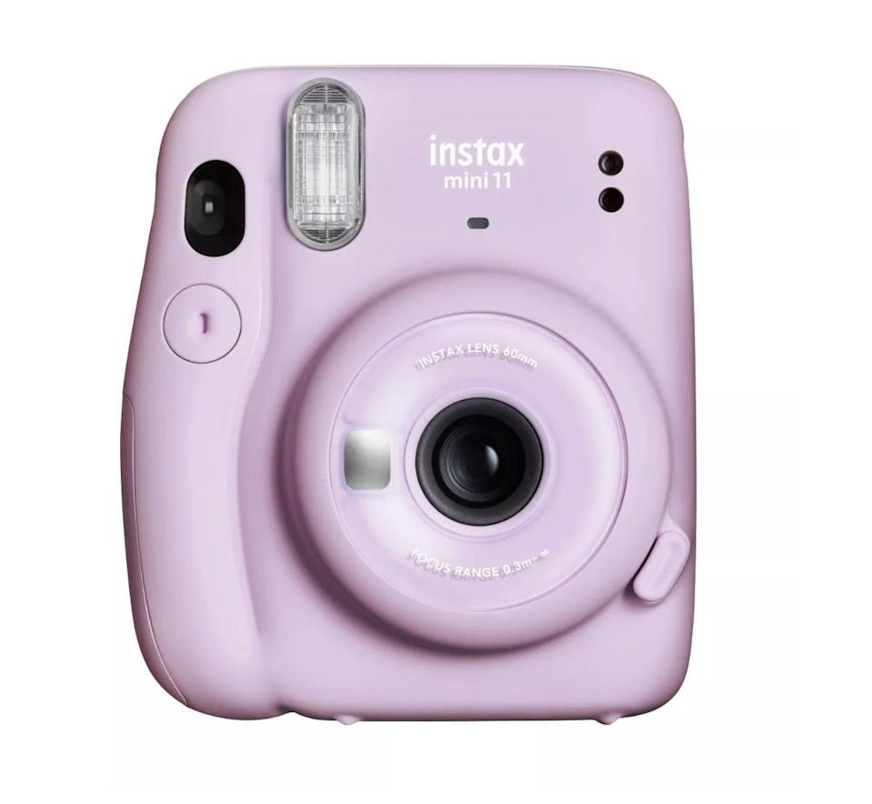 """<p>Snap fun memories they can keep forever on this <a href=""""https://www.popsugar.com/buy/Fujifilm-Instax-Mini-11-Camera-569750?p_name=Fujifilm%20Instax%20Mini%2011%20Camera&retailer=target.com&pid=569750&price=60&evar1=moms%3Aus&evar9=32519221&evar98=https%3A%2F%2Fwww.popsugar.com%2Ffamily%2Fphoto-gallery%2F32519221%2Fimage%2F44850762%2FFujifilm-Instax-Mini-11-Camera&list1=gifts%2Choliday%2Cgift%20guide%2Cgifts%20for%20kids%2Ckid%20shopping%2Ctweens%20and%20teens%2Cgifts%20for%20teens&prop13=api&pdata=1"""" class=""""link rapid-noclick-resp"""" rel=""""nofollow noopener"""" target=""""_blank"""" data-ylk=""""slk:Fujifilm Instax Mini 11 Camera"""">Fujifilm Instax Mini 11 Camera </a> ($60).</p>"""