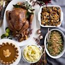 """<p><strong>Williams-Sonoma</strong></p><p>williams-sonoma.com</p><p><strong>$299.95</strong></p><p><a href=""""https://go.redirectingat.com?id=74968X1596630&url=https%3A%2F%2Fwww.williams-sonoma.com%2Fproducts%2Fcomplete-thanksgiving-turkey-dinner-serves-8%2F&sref=https%3A%2F%2Fwww.bestproducts.com%2Feats%2Ffood%2Fg34524875%2Fthanksgiving-dinner-delivery-services%2F"""" rel=""""nofollow noopener"""" target=""""_blank"""" data-ylk=""""slk:Shop Now"""" class=""""link rapid-noclick-resp"""">Shop Now</a></p><p>Let Williams-Sonoma do the hard part for you with their Complete Thanksgiving Turkey Dinner, which feeds up to 8 guests. Included in this meal delivery is a whole turkey (you can choose between free-range, pre-brined, organic, or pre-brined organic turkeys), traditional green bean casserole, butter chive mashed potatoes, and pumpkin pie to end the meal on a sweet note. </p><p>Choose between pre-Thanksgiving or Thanksgiving Day delivery depending on your own holiday schedule. </p>"""