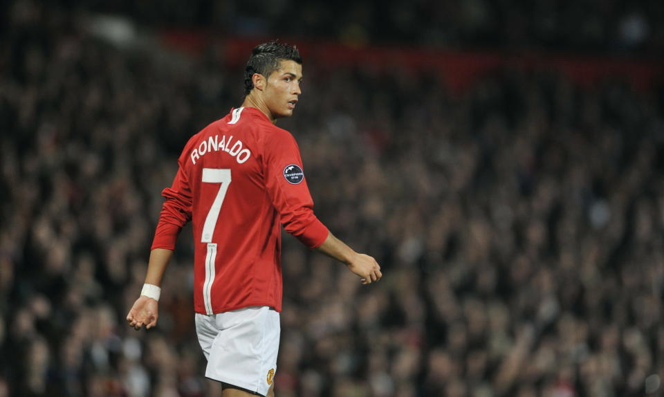 Football - Manchester United v Villarreal UEFA Champions League Group Stage Matchday One Group E  - Old Trafford, Manchester, England - 17/9/08  Manchester United's Cristiano Ronaldo   Mandatory Credit: Action Images / Jason Cairnduff  Livepic