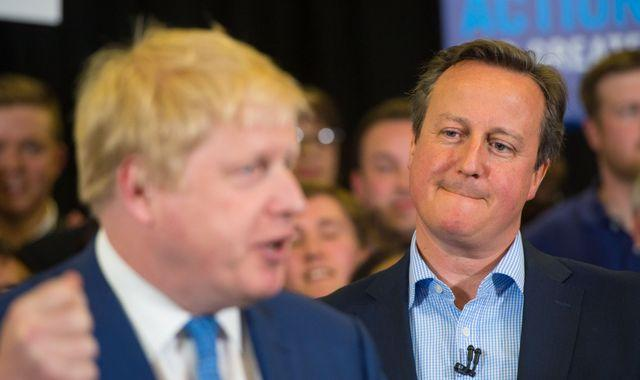 Brexit: David Cameron becomes fifth ex-PM to express concern at Johnson's plan to override Brexit deal