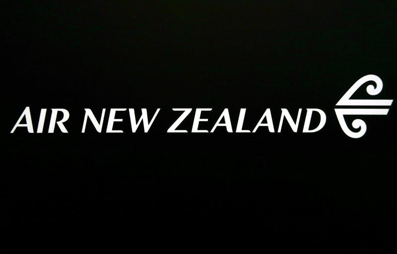 FILE PHOTO - The logo for Air New Zealand is displayed at their office located at Sydney International Airport