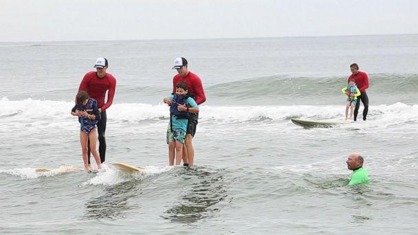 PHOTO: Surfers Healing hosted the Autism Beach Bash in Belmar, NJ where over 300 people with autism had the opportunity to surf with pro surfers. (ABC News)