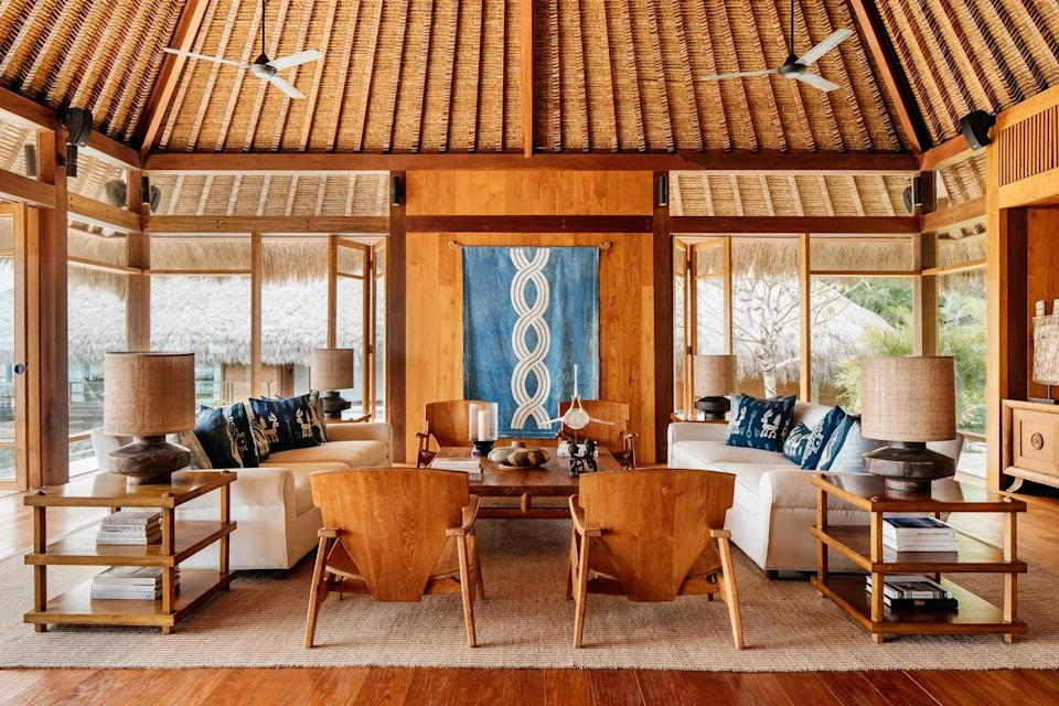 A guest libby at NIHI Sumba, voted one of the best hotels in the world