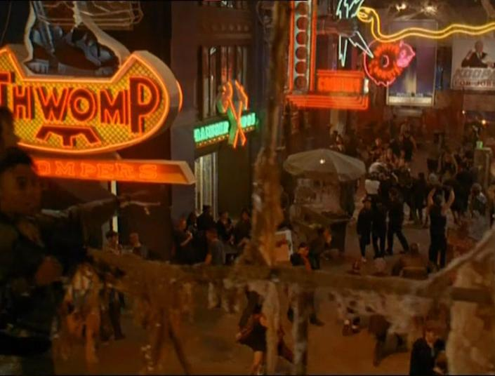 """A shot of the street in 1993 film """"Super Mario Bros."""""""
