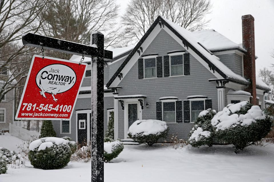 SCITUATE, MA. - DECEMBER 17:  A house for sale on December 17, 2020 in Scituate, Massachusetts.   (Staff Photo By Matt Stone/ MediaNews Group/Boston Herald)