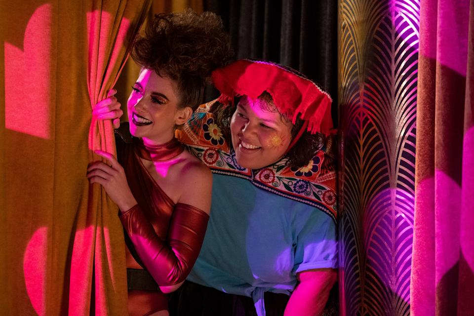 Alison Brie as Ruth/Zoya the Destroya and Britney Young as Carmen/Machu Picchu