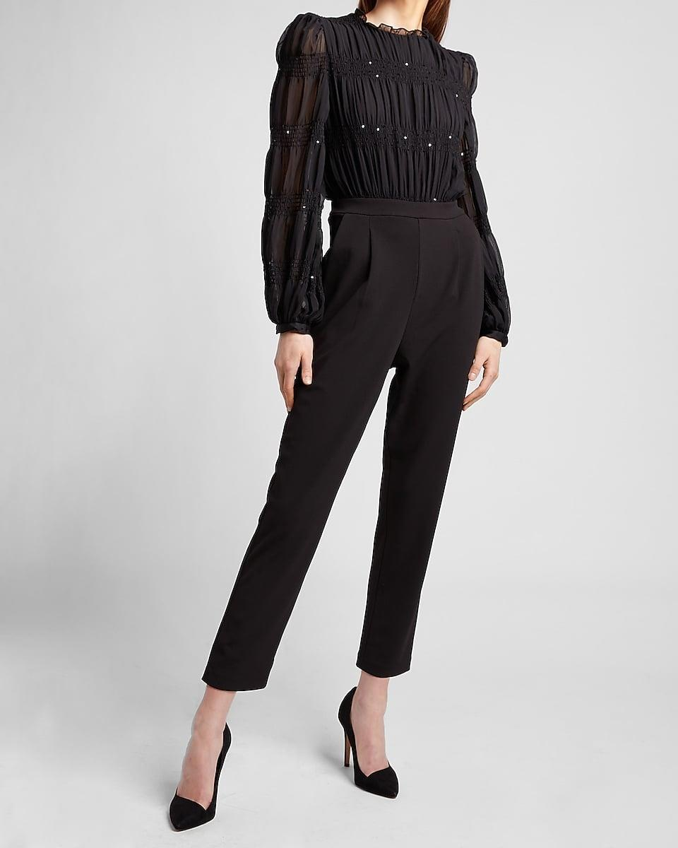 <p>This <span>Pleated Chiffon Sequin Jumpsuit</span> ($59, originally $118) is a reason to dress up and throw yourself a solo dance party.</p>