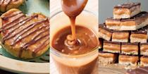 """<p>We. Love. Caramel. And realistically, who doesn't? It's rich, moreish and delicious in just about any sort of dessert. Which is why we've pulled together our most delicious caramel recipes. Yep! We're talking <a href=""""https://www.delish.com/uk/cooking/recipes/a32776788/millionaire-shortbread-recipe/"""" rel=""""nofollow noopener"""" target=""""_blank"""" data-ylk=""""slk:Millionaire Shortbread"""" class=""""link rapid-noclick-resp"""">Millionaire Shortbread</a>, <a href=""""https://www.delish.com/uk/cooking/recipes/a33120519/caramel-stuffed-apples-recipe/"""" rel=""""nofollow noopener"""" target=""""_blank"""" data-ylk=""""slk:Caramel Stuffed Apples"""" class=""""link rapid-noclick-resp"""">Caramel Stuffed Apples</a>, <a href=""""http://www.delish.com/uk/cooking/recipes/a28830641/salted-caramel-brownies-recipe/"""" rel=""""nofollow noopener"""" target=""""_blank"""" data-ylk=""""slk:Salted Caramel Brownies"""" class=""""link rapid-noclick-resp"""">Salted Caramel Brownies</a> and more. Not to mention, a fuss-free and easy-to-follow recipe on <a href=""""https://www.delish.com/uk/food-news/a29733868/how-to-make-caramel/"""" rel=""""nofollow noopener"""" target=""""_blank"""" data-ylk=""""slk:how to make caramel"""" class=""""link rapid-noclick-resp"""">how to make caramel</a> from scratch! So, if you're looking for ways to use up that tin of Carnation Caramel sitting in the cupboard, we've got you covered with plenty of caramel recipes. Thank us later... </p>"""