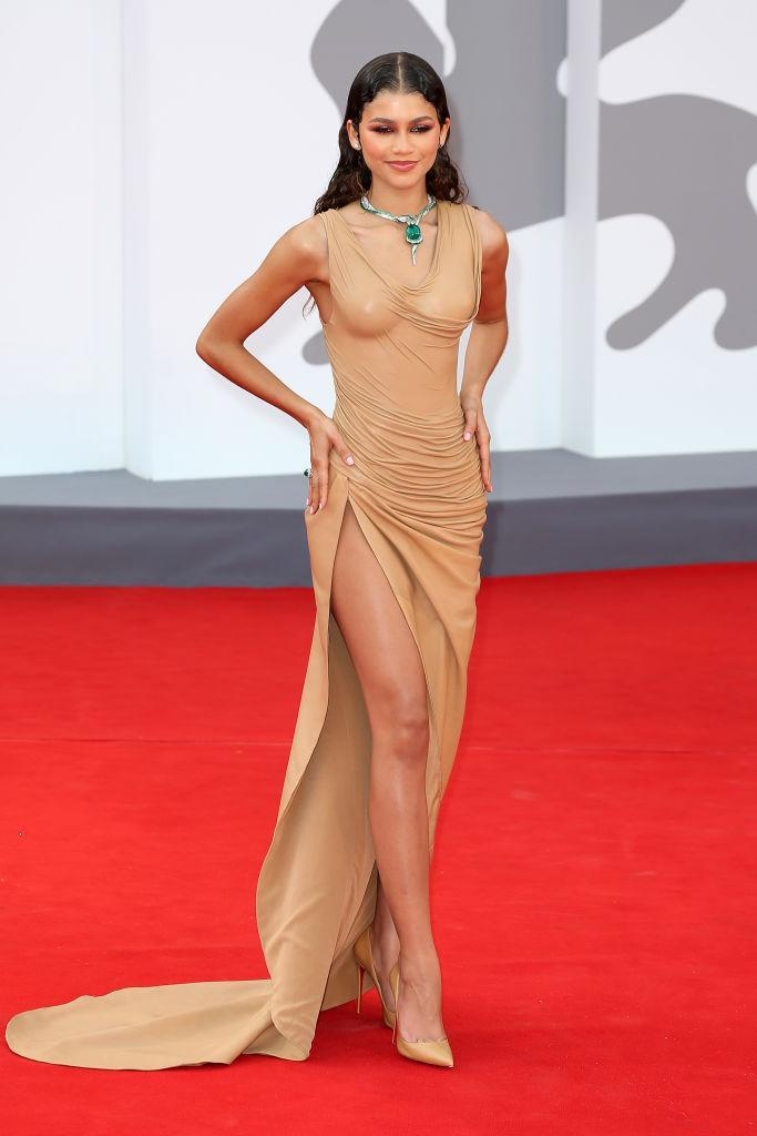 Zendaya has brought her fashion A-game to the Venice film festival. (Getty Images)