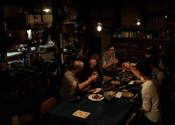 Dinner at Takyo Abeke is a communal event