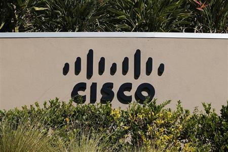 A Cisco office sign is pictured in San Diego, California