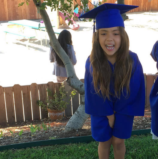 """<p>Denise Richards's """"baby"""" is growing up. Eloise, 6, graduated from preschool on June 14, leaving her actress<br>mama feeling """"proud."""" PS: Eloise and Maxwell Johnson appear to be schoolmates in L.A. (Photo: <a href=""""https://www.instagram.com/p/BVVZe5bBGvx/?taken-by=deniserichards"""" rel=""""nofollow noopener"""" target=""""_blank"""" data-ylk=""""slk:Denise Richards via Instagram"""" class=""""link rapid-noclick-resp"""">Denise Richards via Instagram</a>)<br></p>"""