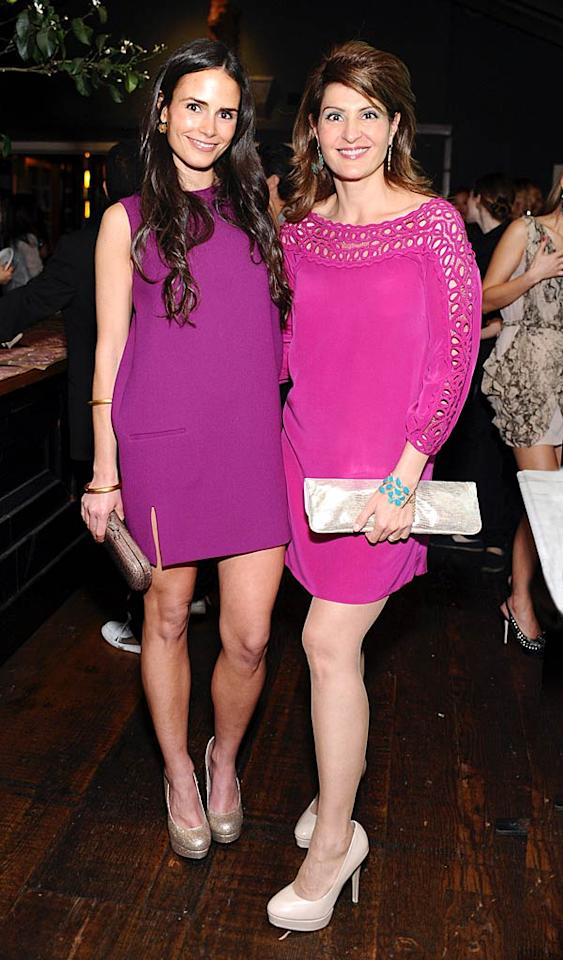 """Jordana Brewster and Nia Vardalos both arrived decked out in pink frocks. Stefanie Keenan/<a href=""""http://www.wireimage.com"""" target=""""new"""">WireImage.com</a> - April 5, 2011"""