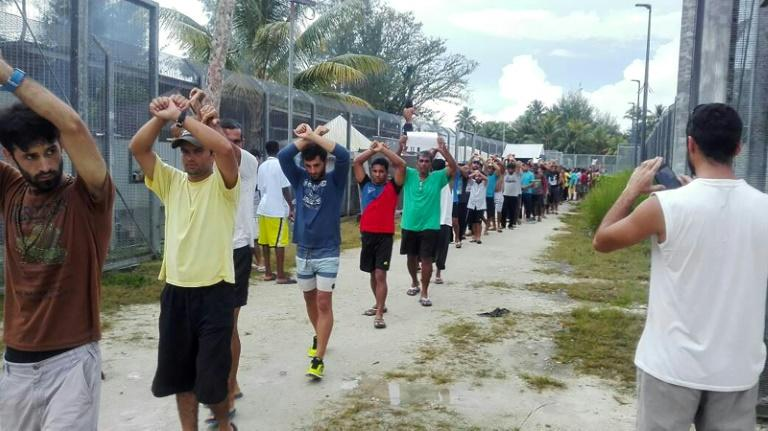 Hundreds of men have refused to leave the Manus Island camp in an increasingly tense stand-off with authorities since Australia declared the facility closed on October 31 and shut off electricity and water
