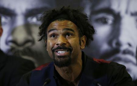 Britain Boxing - David Haye & Tony Bellew Press Conference - Liverpool Hilton Hotel - 27/2/17 David Haye during the press conference Action Images via Reuters / Andrew Couldridge Livepic