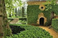 """<p>Hidden in the heart of the Périgord noir region, the elaborate topiary garden at the <a href=""""https://www.eyrignac.com/en/"""" rel=""""nofollow noopener"""" target=""""_blank"""" data-ylk=""""slk:Manor d'Eyrignac"""" class=""""link rapid-noclick-resp"""">Manor d'Eyrignac</a> has been passion project for the Sermadiras family for nearly 500 years. The origin of the first gardens at the manse date back to the 18th century when Louis-Antoine Gabriel de la Calprenède began laying out plans for Italian-inspired formal gardens. <br><br>Over the years, yews, hornbeams, cypress, and countless other sculpted treasures were planted in a structured manner to compliment the architectural lines of the manors and the woodland that surrounds the property.</p>"""