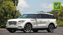 "<p>That engine we love so much is only part of what makes the Aviator so nice to drive. With all-wheel drive and the optional Dynamic Handling package ($7,430) on our tester – which adds <a href=""https://www.motor1.com/news/361091/lincoln-aviator-adaptive-suspension-details/"" rel=""nofollow noopener"" target=""_blank"" data-ylk=""slk:an adaptive air suspension"" class=""link rapid-noclick-resp"">an adaptive air suspension</a> and adaptive steering – the Aviator is surprisingly agile in the turns.</p> <p>The steering is well-weighted and responsive, and body roll is less noticeable compared to some of the alternatives. Not only does the Aviator corner well, but it also has a supremely comfortable ride in everyday conditions. The air suspension soaks up bumps and potholes, making the big SUV feel like it's gliding atop the road.</p><ul><li><a href=""https://www.motor1.com/reviews/392242/2020-lincoln-aviator-grand-touring-black-label-review/?utm_campaign=yahoo-feed"" rel=""nofollow noopener"" target=""_blank"" data-ylk=""slk:2020 Lincoln Aviator Grand Touring Black Label Review: Take To The Sky"" class=""link rapid-noclick-resp"">2020 Lincoln Aviator Grand Touring Black Label Review: Take To The Sky</a></li><br><li><a href=""https://www.motor1.com/reviews/365965/2020-lincoln-aviator-first-drive/?utm_campaign=yahoo-feed"" rel=""nofollow noopener"" target=""_blank"" data-ylk=""slk:2020 Lincoln Aviator First Drive: Sitting In First Class"" class=""link rapid-noclick-resp"">2020 Lincoln Aviator First Drive: Sitting In First Class</a></li><br></ul>"