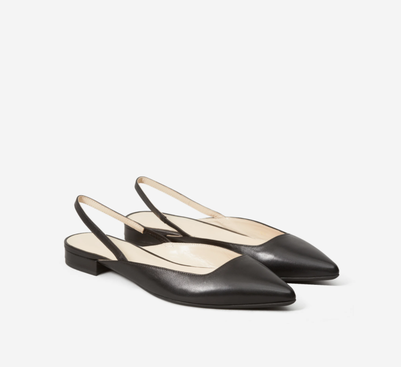 The Editor Slingback in Black. Image via Everlane.