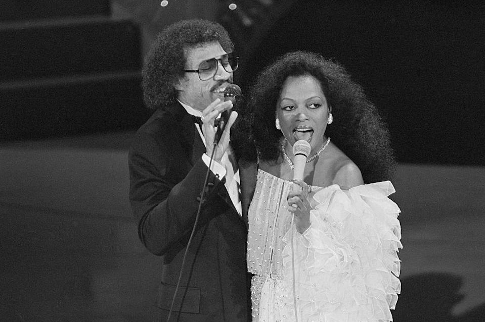 <p>Diana Ross recorded the soundtrack to the film <em>Endless Love </em>with Lionel Richie, which was a hit. The duo is seen here performing in 1981.</p>