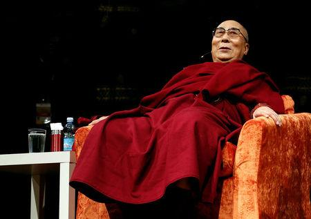 FILE PHOTO: Tibet's exiled spiritual leader the Dalai Lama is seen at the Arcimboldi theater before receiving honorary citizenship of the city of Milan, in Milan