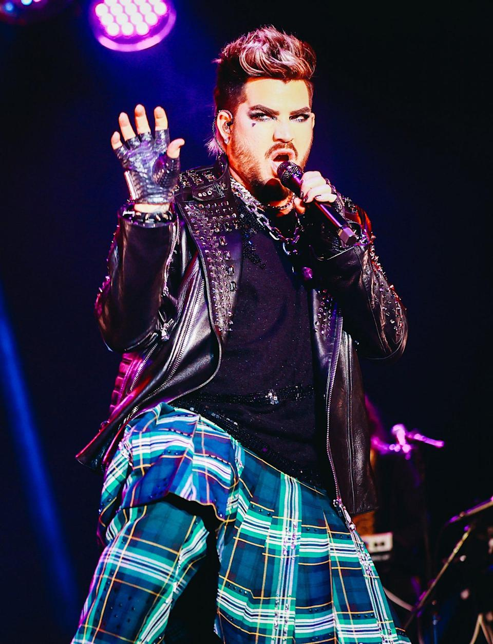 <p>Adam Lambert performs at the OUTLOUD: Raising Voices Pride Month Kickoff Concert on June 6 in L.A. </p>