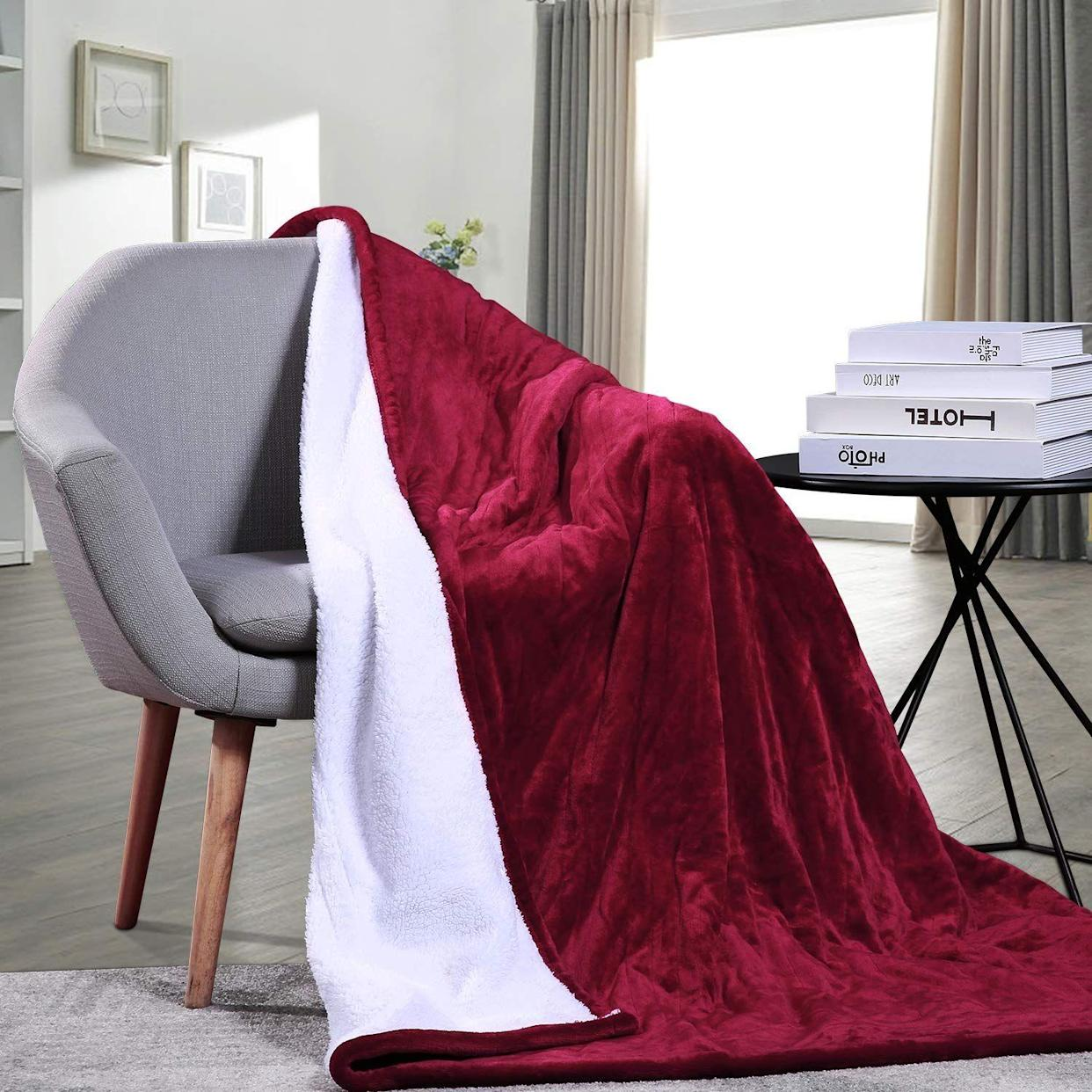 "<p><strong>The Gift: Heated Blanket</strong><br>Recipe for a fire V-Day: Stay in, order Seamless, and get cozy with your main squeeze under this super-plush heated sherpa blanket.</p> <br> <br> <strong>MaxKare</strong> Heated Throw Blanket, $59.99, available at <a href=""https://www.amazon.com/MaxKare-Electric-Fast-Heating-Reversible-Heat-Level/dp/B07BWD5F21/ref=sr_1_4"" rel=""nofollow noopener"" target=""_blank"" data-ylk=""slk:Amazon"" class=""link rapid-noclick-resp"">Amazon</a>"