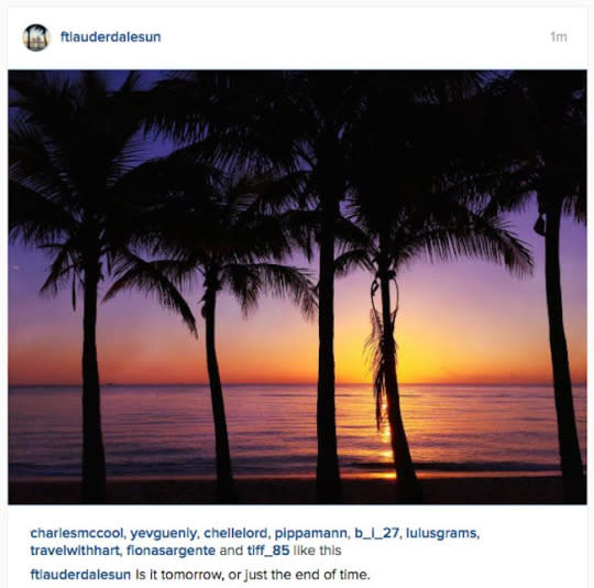 """<p>I do not specifically wake up every morning to see what Andy Royston of <a href=""""https://www.instagram.com/ftlauderdalesun/"""">Ft. Lauderdale Sun</a> has posted. Without fail, though, his photos grace my Instagram feed and catch my eye. It actually is a great way to start my day. I might be hooked. <i>(Photo: <a href=""""https://www.instagram.com/ftlauderdalesun/"""">@ftlauderdalesun</a>)</i><b><br /></b></p>"""