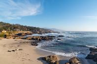"""<p><a href=""""https://www.pebblebeach.com/17-mile-drive/"""" rel=""""nofollow noopener"""" target=""""_blank"""" data-ylk=""""slk:Pebble Beach's 17-Mile Drive"""" class=""""link rapid-noclick-resp"""">Pebble Beach's 17-Mile Drive</a> has an entrance fee of $10.50 per vehicle, but the price tag is definitely worth it. The views are pure magic with the ocean washing onto snow-white sandy beaches and the enchanted forest scenery along the way. See the iconic Lone Cypress, the giant trees at Crocker Grove, the untouched beauty at Fanshell Beach, the power of the Restless Sea at Point Joe, stroll the boardwalk above the beach at Spanish Bay.</p>"""