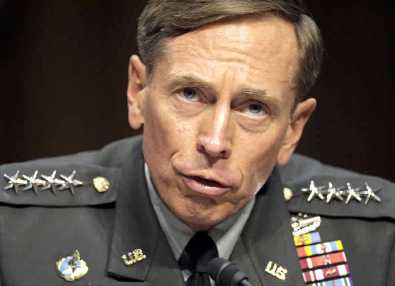 FILE - In this June 23, 2011 file photo, then-CIA Director-desigate Gen. David Petraeus testifies on Capitol Hill in Washington. An anonymous email sent in May set off an elaborate chain of events that led to the downfall of former CIA Director David Petraeus, ensnared the top Afghan war chief and saw the Pentagon order a review of ethics training for senior officers. Lawmakers are demanding answers about who knew what and when.   (AP Photo/Cliff Owen, File)