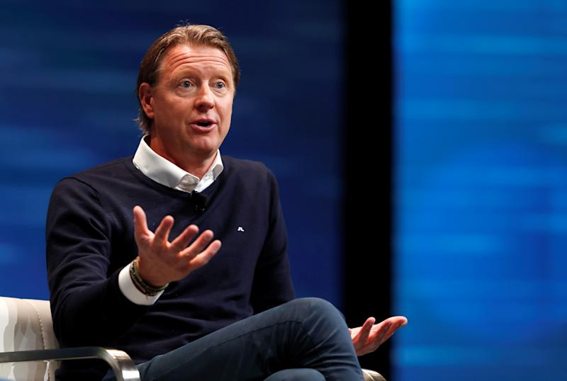 Hans Vestberg, Verizon executive vice president and president of Global Networks and Chief Technology Officer, speaks during a panel discussion on 5G wireless broadband technology during the 2018 CES in Las Vegas, Nevada, U.S. January 10, 2018. REUTERS/Steve Marcus
