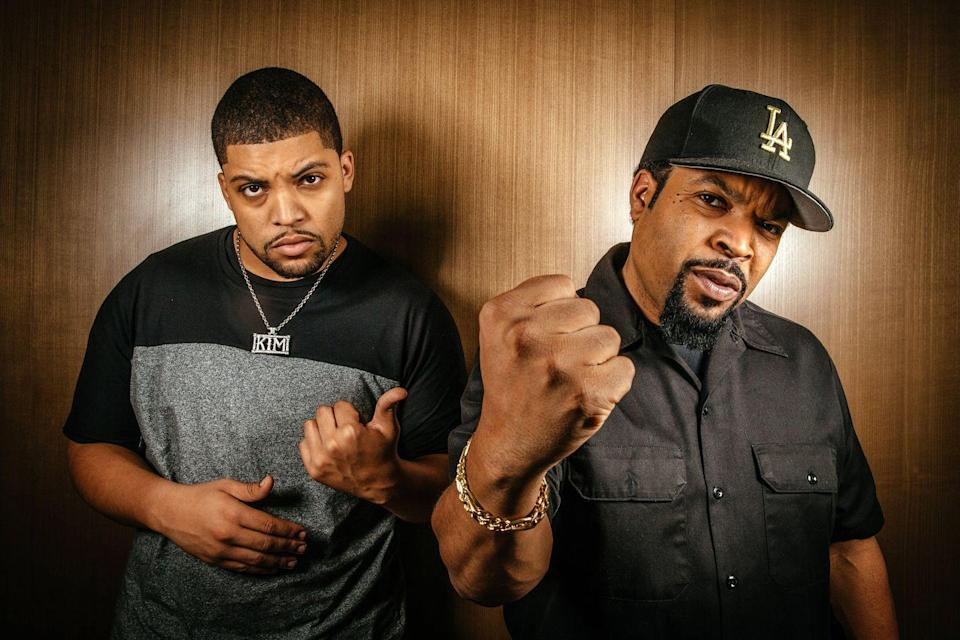 """<p><strong>Famous parent(s)</strong>: rapper/producer Ice Cube <br><strong>What it was like</strong>: """"I went on a world tour with him, and we were in Japan and Australia and people were telling me all the way out there how his rapping in L.A had affected them,"""" he's <a href=""""http://www.channel24.co.za/Movies/News/OShea-Jackson-Jr-talks-about-becoming-his-dad-Ice-Cube-for-NWA-biopic-20151002"""" rel=""""nofollow noopener"""" target=""""_blank"""" data-ylk=""""slk:said"""" class=""""link rapid-noclick-resp"""">said</a>. """"That's when I started to really get an idea that he touches people all over the world and that it's a big deal.""""</p>"""