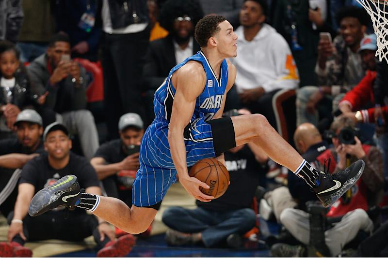 Aaron Gordon Of The Orlando Magic Soars During 2017 Verizon Slam Dunk Contest In New Orleans Gordons Back For Another Round This Year Getty