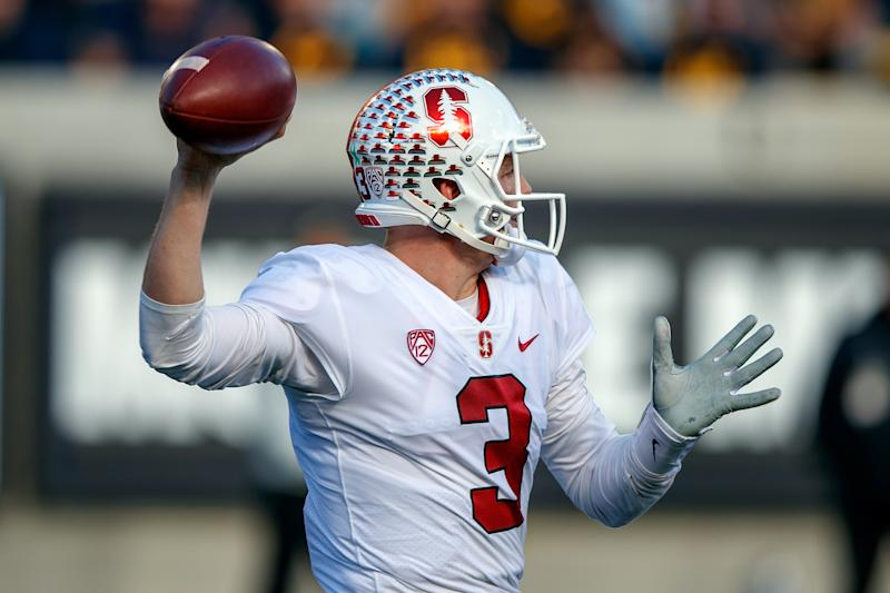 Stanford QB K.J. Costello has some obvious plusses but a lot of questions as an NFL prospect. (Getty Images)