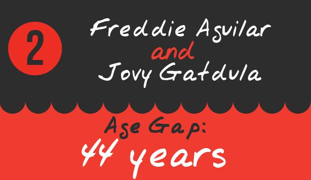 2. Freddie Aguilar and Jovy Gatdula, Age Gap: 44 years