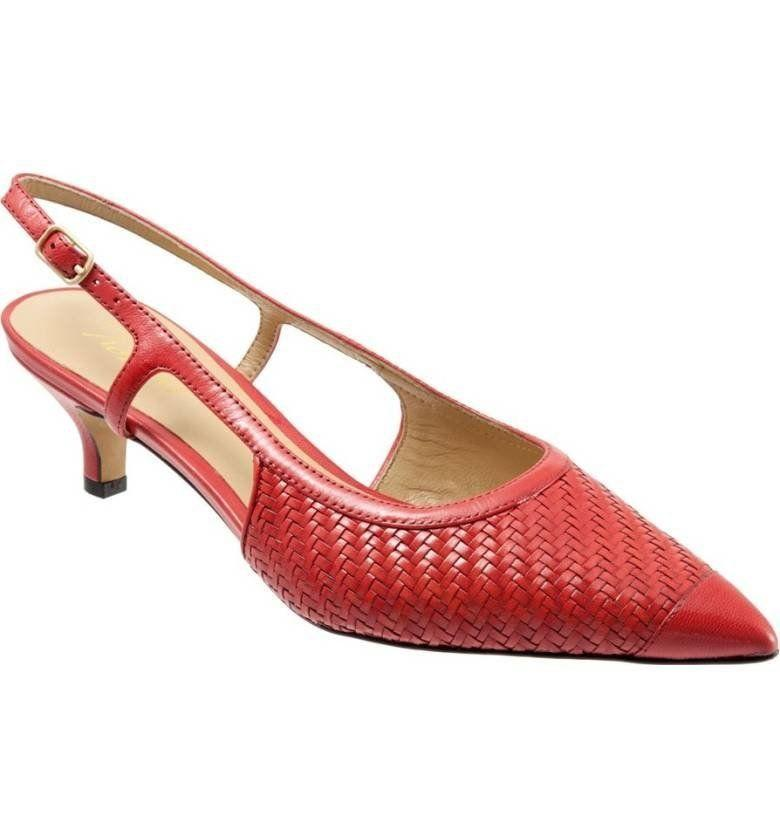 "Get them at <a href=""https://shop.nordstrom.com/s/trotters-kimberly-woven-leather-slingback-pump-women/3959310?origin=keywordsearch-personalizedsort&fashioncolor=BLACK%2F%20GREY%20LEATHER"" target=""_blank"">Nordstrom</a> for $140."