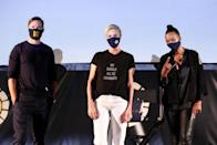 <p>Nicholas Hoult, Charlize Theron and Aisha Tyler appear at the Theron-hosted drive-in screening of <em>Mad Max: Fury Road, </em>sponsored by Heineken 0.0, at The Grove in Los Angeles. The event raised funds for the Charlize Theron Africa Outreach Project.</p>