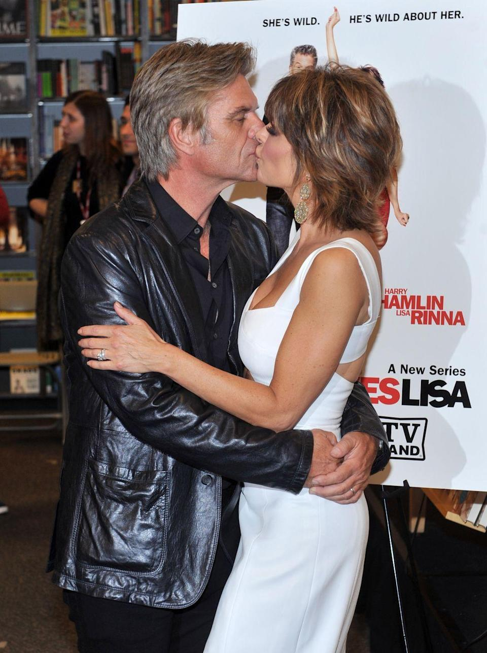 "<p>Any <em>Real Housewives of Beverly Hills </em>fans out there? If so, you already know Lisa Rinna (who plays Lynn Echolls, Aaron Echolls' wife in <em>Veronica Mars</em>) is <a href=""https://www.bravotv.com/the-daily-dish/lisa-rinna-harry-hamlin-22nd-wedding-anniversary-celebration"" rel=""nofollow noopener"" target=""_blank"" data-ylk=""slk:Harry's wife in real life"" class=""link rapid-noclick-resp"">Harry's wife in real life</a>. They got married in 1997, seven years before the premiere of <em>Veronica Mars</em>.</p>"