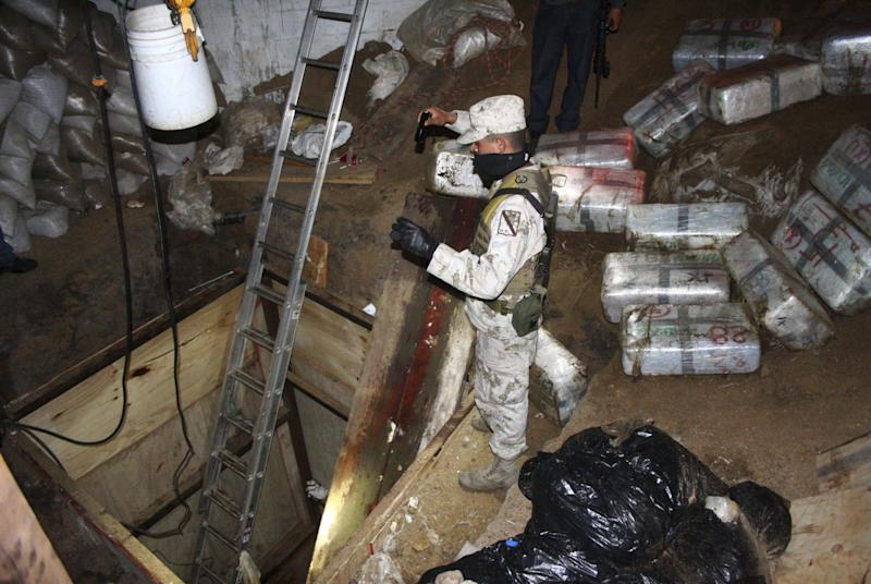 Mexico drug tunnel drugs