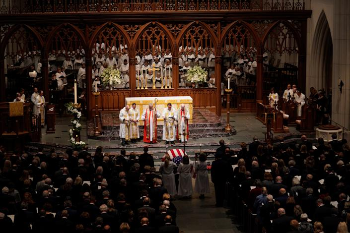 The funeral service for former U.S. President George H.W. Bush at the St. Martins Episcopal Church in Houston, Texas, Dec. 6, 2018. (Photo: Rick T. Wilking/Reuters)