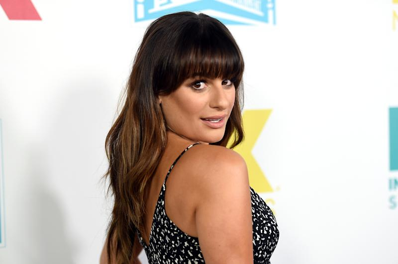 Glee star Lea Michele, pictured here, has been slammed by a co-star after Black Lives Matter tweet.