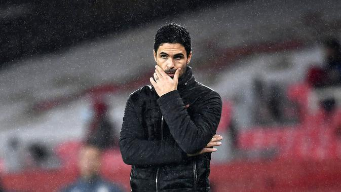 Manajer Arsenal, Mikel Arteta. (Andy Rain/Pool via AP)