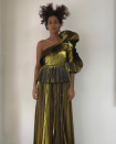 <p>If anyone can tempt us to rock shoulder pads again it's Solange in this Gucci dress. [Photo: Solange/ Instagram] </p>