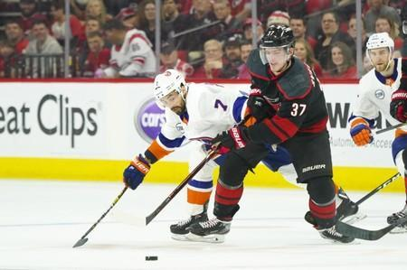 FILE PHOTO: NHL: Stanley Cup Playoffs-New York Islanders at Carolina Hurricanes