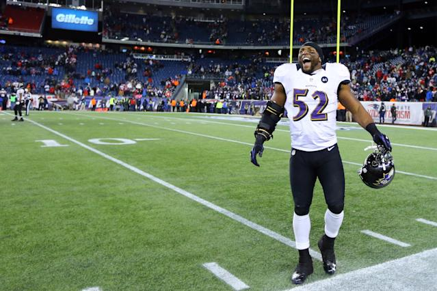"""Former Ravens linebacker Ray Lewis said that crime was lower in Baltimore when he was playing in the NFLbecause """"it was like nobody needs to be mad now."""" (Getty Images)"""
