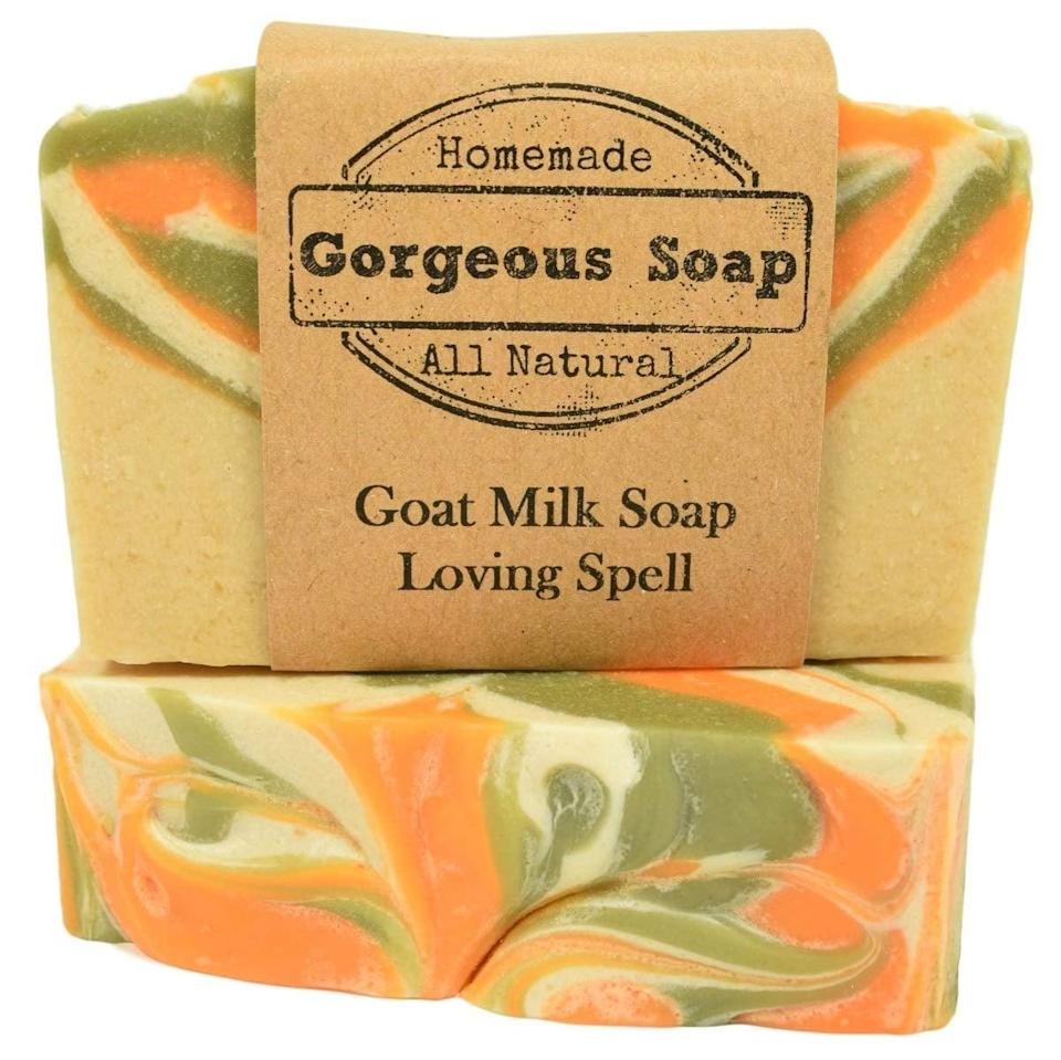 <p>The <span>Loving Spell Goat Milk Soap</span> ($7) looks so pretty and will leave your skin feeling soft. It smells like a fruity floral wonder that is fresh and yummy.</p>