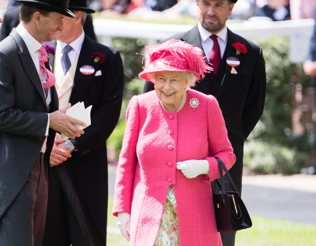 "<p>The Queen's <a href=""https://www.townandcountrymag.com/society/tradition/g10043681/royal-ascot-photos/"" target=""_blank"">favorite event</a> of the year has arrived: <a href=""https://www.townandcountrymag.com/leisure/sporting/a10212945/ascot-history-royal-enclosure/"" target=""_blank"">Royal Ascot</a>. The annual racehorse is a highlight of the Queen's calendar each year, which should come as no surprise given her lifelong love of horses. Ascot was founded by Queen Anne in 1711, and has had eleven additional monarch patrons since then. The Queen is an avid supporter, and makes an appearance at multiple days of Royal Ascot events. </p><p>Here, take a look at the Queen's best moments from her time at the 2019 Royal Ascot. </p>"