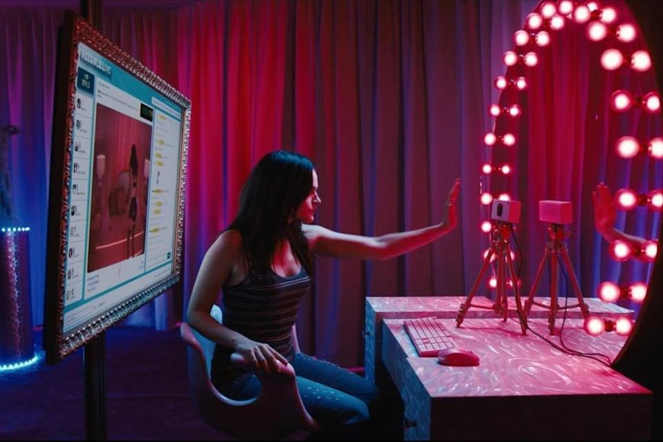 """<p>In this psychological horror film set in the world of webcam pornography, Madeline Brewer from <strong><a class=""""link rapid-noclick-resp"""" href=""""https://www.popsugar.co.uk/The-Handmaid%E2%80%99s-Tale"""" rel=""""nofollow noopener"""" target=""""_blank"""" data-ylk=""""slk:The Handmaid's Tale"""">The Handmaid's Tale</a></strong> stars as an erotic cam girl who finds her popular channel hijacked by a look-alike. What's even better: <strong>Cam</strong> is one of the few films about sex work written by a former sex worker, resulting in a story that doesn't glamorize, glorify, or romanticize the profession.</p> <p>Watch <a href=""""https://www.netflix.com/title/80177400"""" class=""""link rapid-noclick-resp"""" rel=""""nofollow noopener"""" target=""""_blank"""" data-ylk=""""slk:Cam""""><strong>Cam</strong></a> on Netflix now.</p>"""